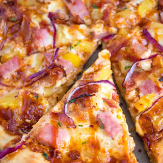 Hawaiian BBQ Pizza.