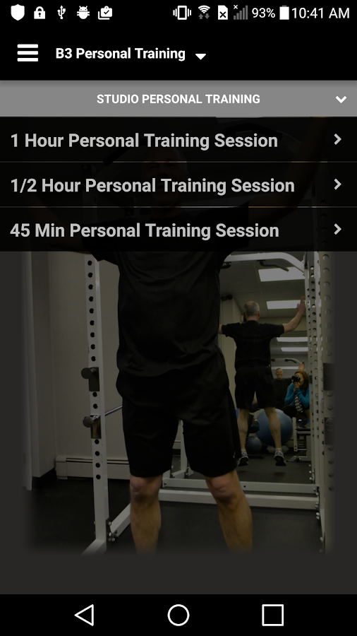 B3 Personal Training- screenshot
