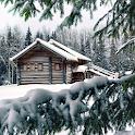 winter cabin wallpaper icon