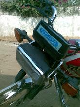 Photo: Another pikipiki operator's bike.