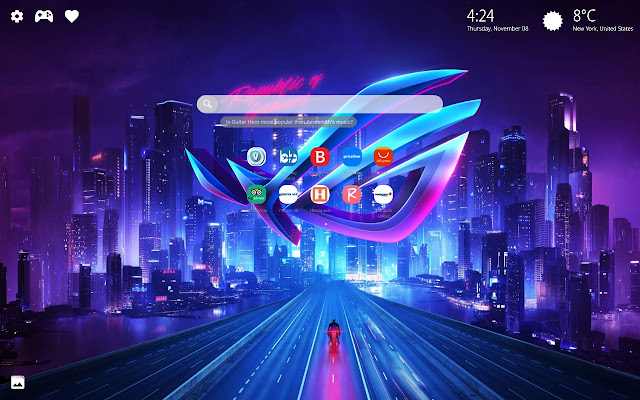 Asus ROG New Tab Wallpaper HD