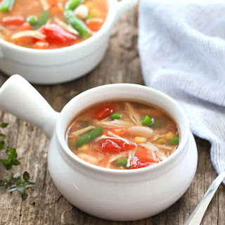 Chicken No-Noodle Soup with Veggies