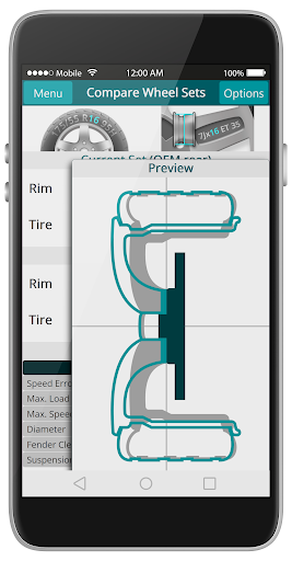 wheelCal: Wheel Size Calculator Measure Tire & Rim 1.1.2 screenshots 2