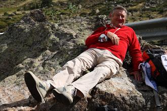 Photo: Oh, un lézard sur son rocher !