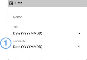 Use the granularity menu to change compatibility mode dates types in charts.