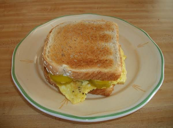 Scrambled Egg & Dill Pickle Sandwich Recipe
