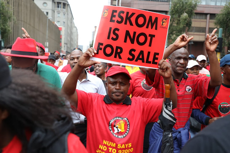 Cosatu and its affiliates on Wednesday marched to the Gauteng legislature in protest against lack of jobs and retrenchments both in the public and private sectors.
