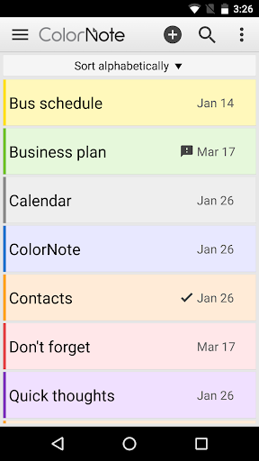 ColorNote Notepad Notes screenshot 1