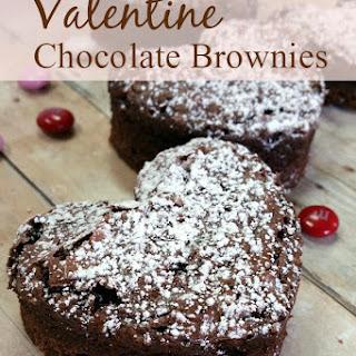 Decadent Triple Chocolate Valentine Brownies
