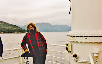Photo: On the ferry with the mini video camera in my hand