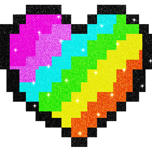 Glitter Pixel Art: Color by Number, Coloring Book Icon