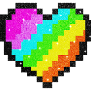Glitter Pixel Art: Color by Number, Coloring Book