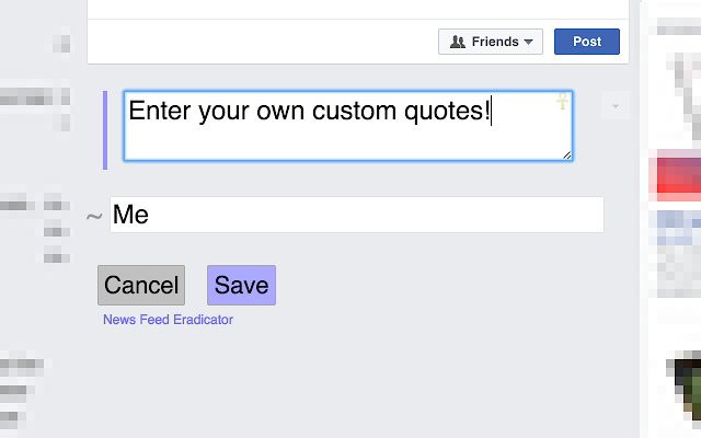 News Feed Eradicator for Facebook
