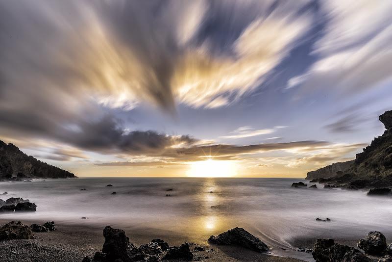 Sunset alla Baia del Carpino di giusepperussofoto