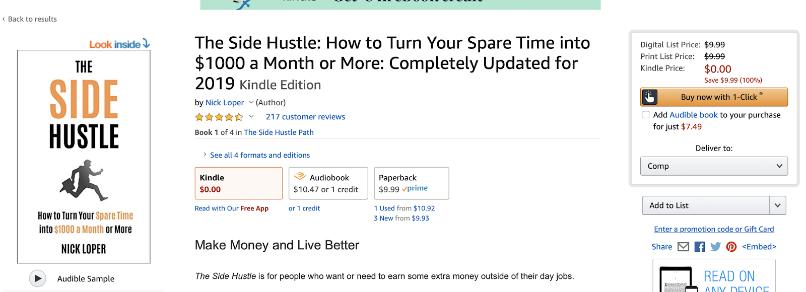 Perma-free Book Funnel - The Side Hustle