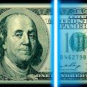 Detector for fake money prank icon