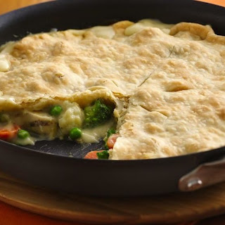 Easy One-Skillet Chunky Chicken Pot Pie.