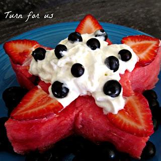 Watermelon Star Cake.