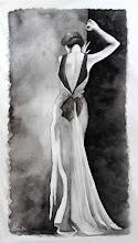 Photo: 俯く女 2013/ May/ Watercolor,paper