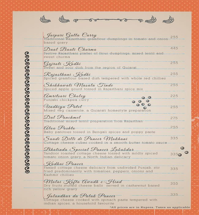 Mother India, CP menu 5