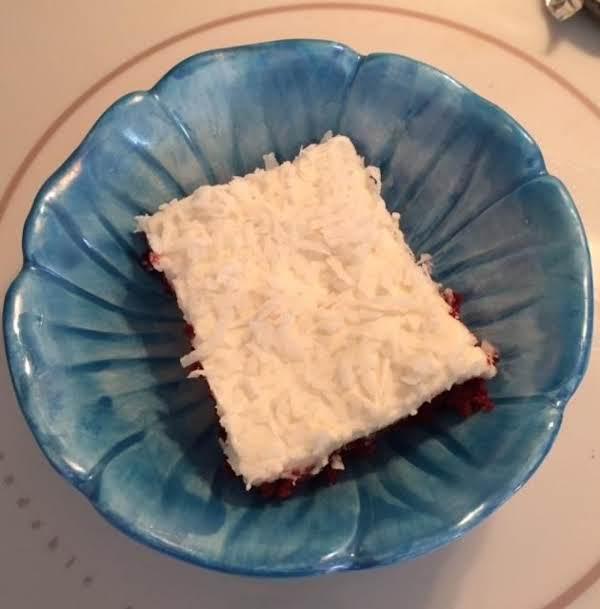 Red Velvet Sheet Cake With Buttercream Frosting