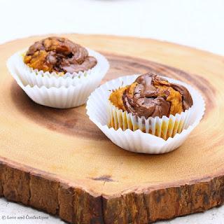 Chocolate Hazelnut Swirl Pumpkin Muffins