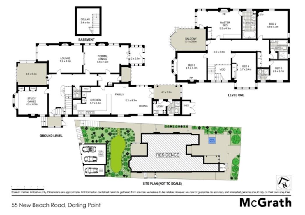 The original floor plan of Rilworth, Darling Point