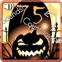 Halloween live wallpaper with countdown and sounds icon