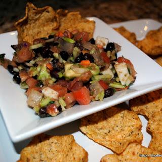 Skinny Nachos with Avocado and Black Beans
