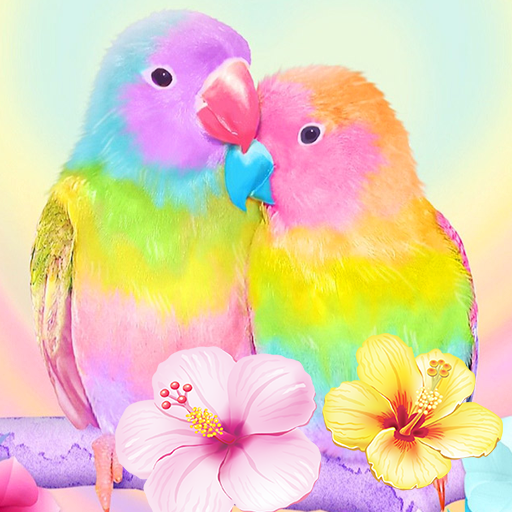 3d Cute Colorful Lovebirds Parrot Gravity Theme Apps On Google Play
