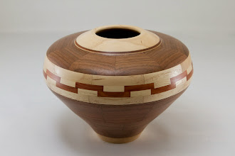 "Photo: Bob Grudberg 8"" x 5 1/2"" segmented vessel [several varieties]"