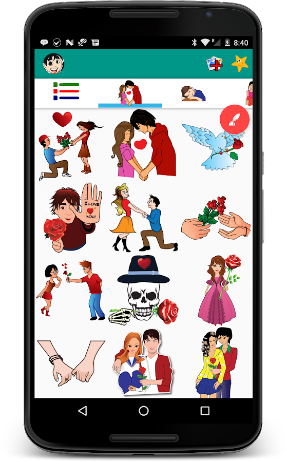 Love Sticker & Emojis - Chat Stickers- screenshot
