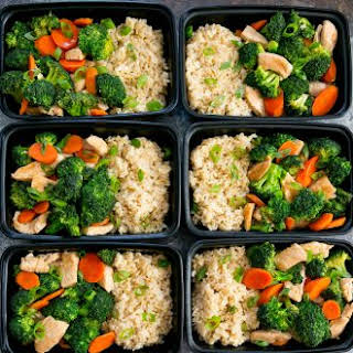 Chicken and Broccoli Stir Fry Meal Prep.