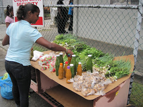 Photo: Vegetable and pepper sauce vendor