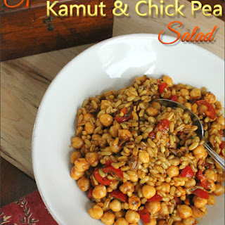 Spiced Kamut and Chick Pea Salad