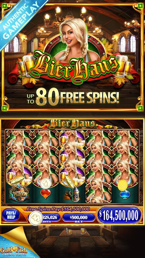 Gold fish casino slots free android apps on google play for Fish casino slot
