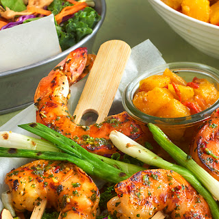 Grilled Asian Shrimp with Curried Pineapple Chutney Recipe