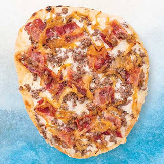Bacon & Blue Cheeseburger Naan Pizza.