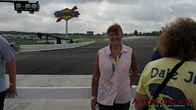 Photo: Miss Gail with the 14 degree Turn 1 behind her...
