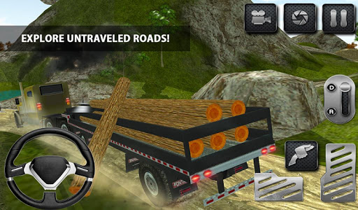4x4 Logging Truck Real Driver Games (apk) free download for Android/PC/Windows screenshot