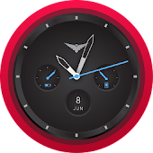 Alpha Black Android Watch Face