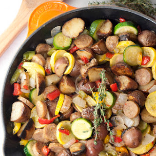 Sausage and Potato Summer Vegetable Skillet Recipe