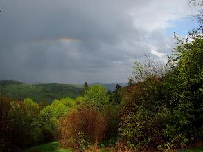 Photo: Tuż przed Przegibkiem zlało nas konkretnie, ale na Przełęczy nagrodziło nas takim oto widokiem.