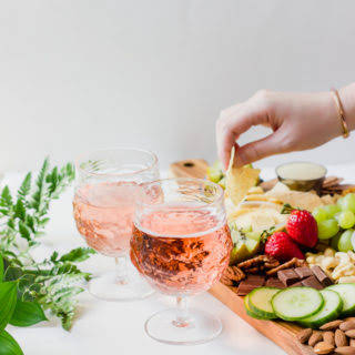 Healthy Party Platter & Refreshing Rose.