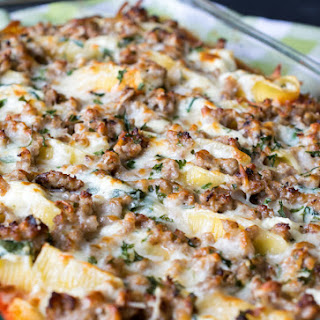 Sausage, Ricotta, and Spinach Stuffed Shells