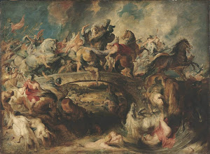 Photo: Peter Paul Rubens, The Battle of the Amazons, 1617-18,