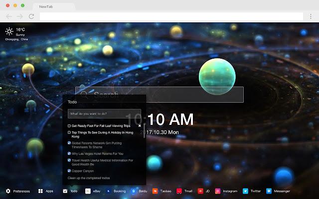 Galaxy New Tab HD Popular Photography Theme