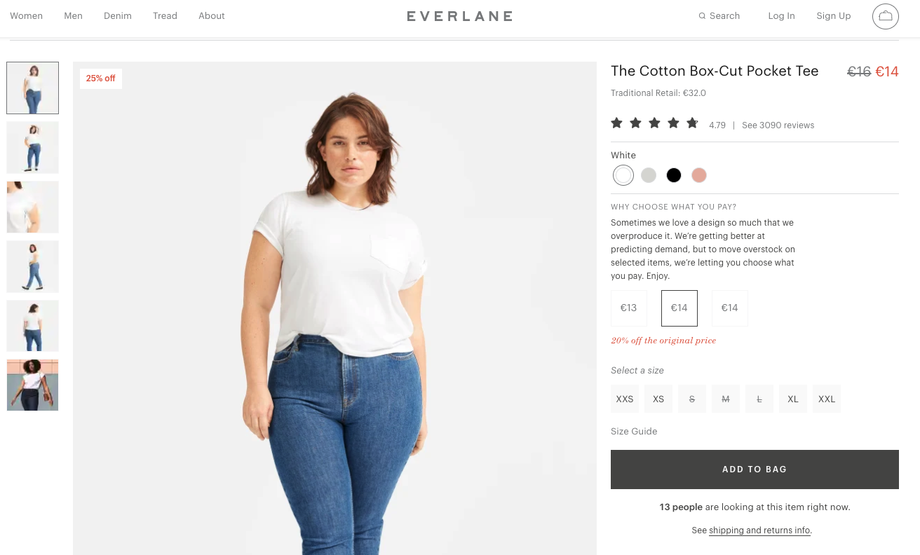best product detail page examples everlane