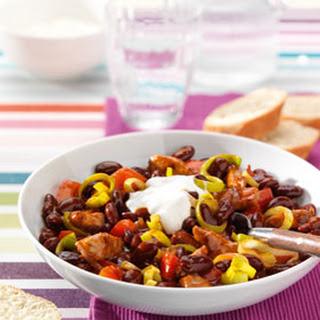 Chili Con Carne Met Paprika En Knoflookroom