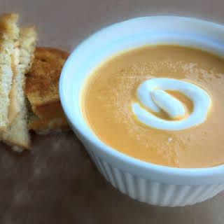 Velvety Rich Carrot Ginger Soup.